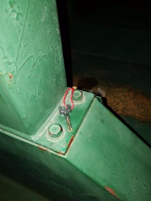 共青公园篮球场发现钥匙一把
