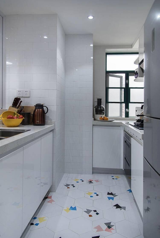 论坛导航 设计会所 美藤装饰 79平现代北欧  ▲ 半开放式的厨房设计图片