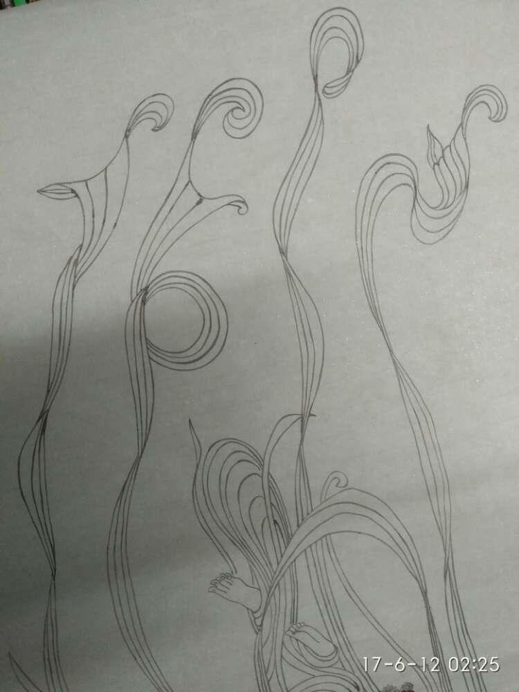 敦煌壁画线描