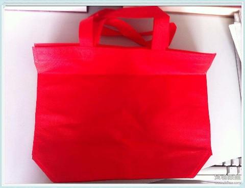 红色袋子,里面有书,钥匙,拖鞋,洗发露,吃的,