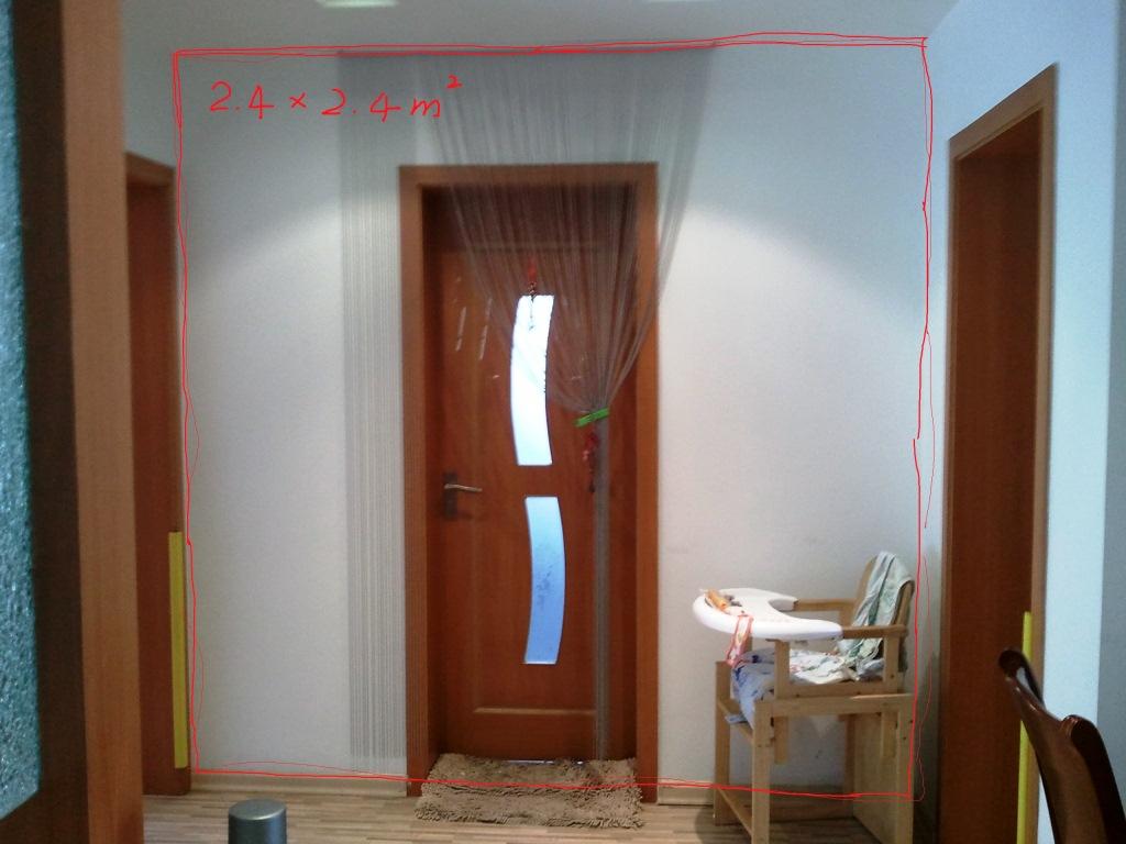 洗手间隐形门效果图