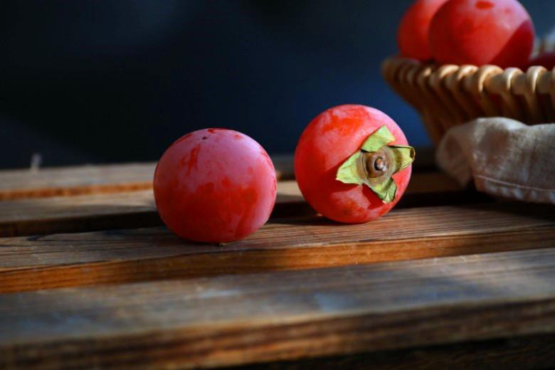 静物摄影 柿子