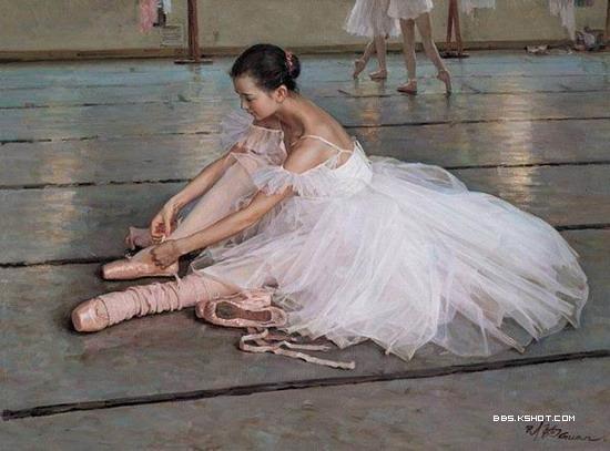 手绘芭蕾女孩|玉山广场