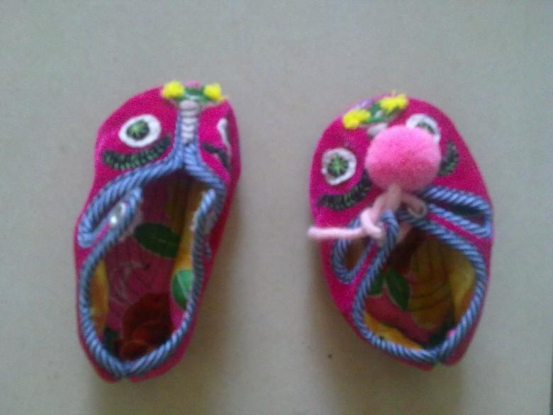 园手工鞋子的步骤