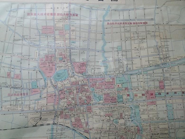 分享一张昆山的老地图