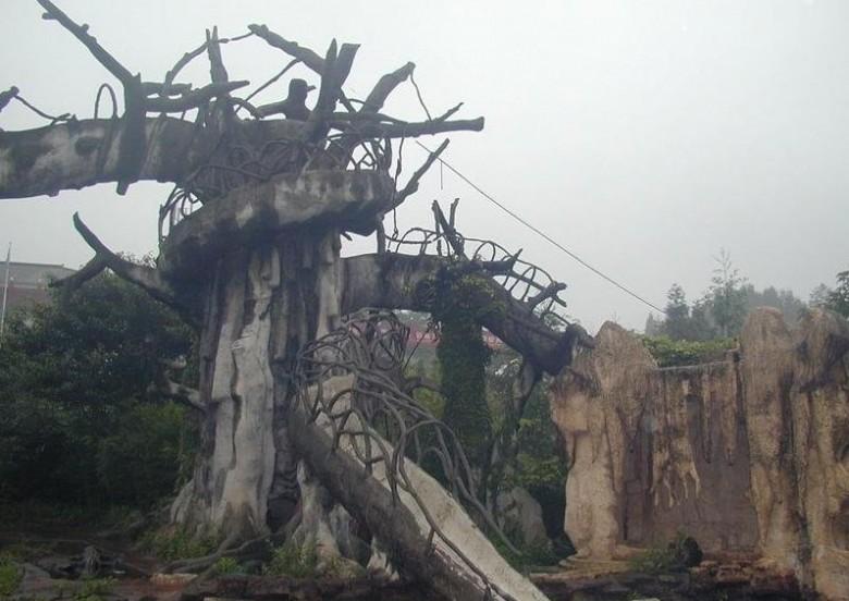 四季常青的碧峰峡生态风景区