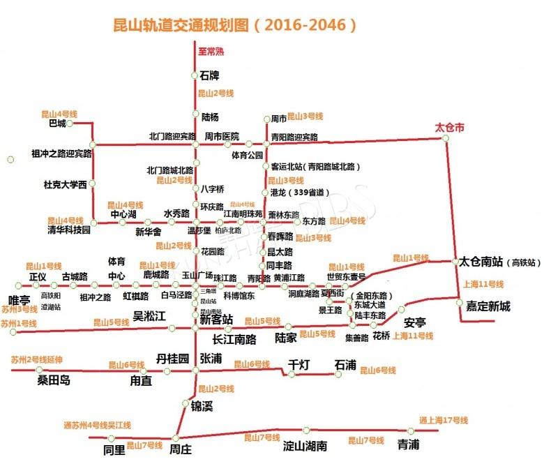 昆山城市空间结构规划图